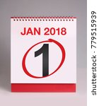 simple desk calendar for...   Shutterstock . vector #779515939