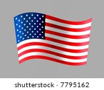 usa flag is one of the most... | Shutterstock . vector #7795162