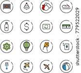 line vector icon set   fenced... | Shutterstock .eps vector #779522029