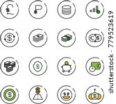 line vector icon set   pound... | Shutterstock .eps vector #779523619