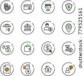 line vector icon set   coin... | Shutterstock .eps vector #779525161