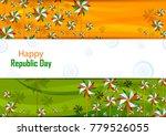 26th january  happy republic... | Shutterstock .eps vector #779526055