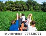 a group of wildlife surveyors... | Shutterstock . vector #779528731
