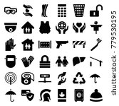 protection icons. set of 36... | Shutterstock .eps vector #779530195