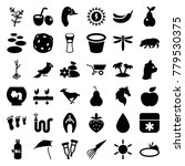 Nature Icons. Set Of 36...