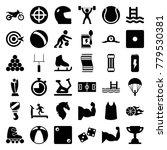 sport icons. set of 36 editable ... | Shutterstock .eps vector #779530381