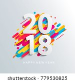 creative new year 2018 design... | Shutterstock . vector #779530825