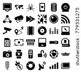digital icons. set of 36... | Shutterstock .eps vector #779531275