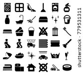 clean icons. set of 36 editable ... | Shutterstock .eps vector #779531311
