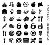 eat icons set of 36 editable