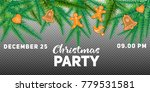 winter holiday background.... | Shutterstock .eps vector #779531581