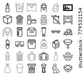 container icons. set of 36... | Shutterstock .eps vector #779532154