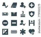 plus icons. set of 16 editable...   Shutterstock .eps vector #779532175