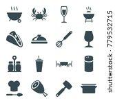 restaurant icons. set of 16... | Shutterstock .eps vector #779532715