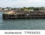Old Abandoned Pier In Boston  ...