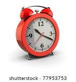 3d illustration of alarm clock... | Shutterstock . vector #77953753