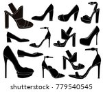 elegant women shoes | Shutterstock .eps vector #779540545