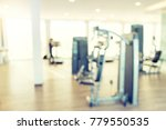 blur gym fitness room modern... | Shutterstock . vector #779550535