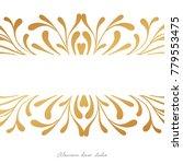 vecto card elegant design witn  ... | Shutterstock .eps vector #779553475
