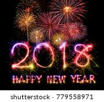 happy new year 2018 from... | Shutterstock . vector #779558971