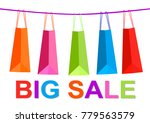 sale banner colorful shopping... | Shutterstock .eps vector #779563579