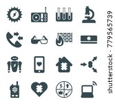 technology icons. set of 16... | Shutterstock .eps vector #779565739