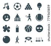 ball icons. set of 16 editable... | Shutterstock .eps vector #779565859
