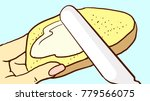 cartoon female hand holds a... | Shutterstock .eps vector #779566075