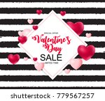 happy valentines day card with...   Shutterstock .eps vector #779567257