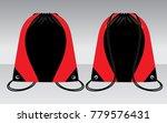 drawstring bag design black red  | Shutterstock .eps vector #779576431
