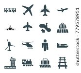 passenger icons. set of 16... | Shutterstock .eps vector #779578951