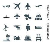 passenger icons. set of 16... | Shutterstock .eps vector #779578951