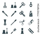 manicure icons. set of 16... | Shutterstock .eps vector #779578954