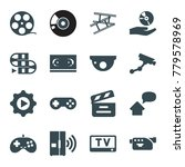 video icons. set of 16 editable ... | Shutterstock .eps vector #779578969