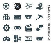 video icons. set of 16 editable ... | Shutterstock .eps vector #779578969
