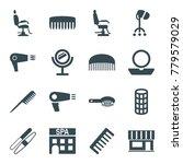 salon icons. set of 16 editable ... | Shutterstock .eps vector #779579029