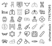 medical icons. set of 36... | Shutterstock .eps vector #779579095