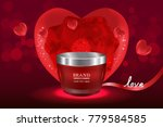 red cosmetic container with...   Shutterstock .eps vector #779584585
