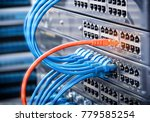 computer network cables... | Shutterstock . vector #779585254