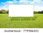 blank advertising billboard in...   Shutterstock . vector #779586331