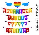 vector bright pride flag lgbt...   Shutterstock .eps vector #779588839