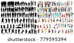 a collection of people... | Shutterstock . vector #779595394