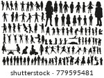 large collection of silhouettes ... | Shutterstock . vector #779595481