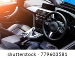 car interior. modern car... | Shutterstock . vector #779603581