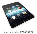 modern digital tactile tablet... | Shutterstock . vector #779605924