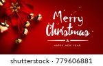 christmas card background ... | Shutterstock . vector #779606881