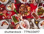 couple celebrating christmas or ...   Shutterstock . vector #779610697