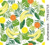 seamless pattern with tropical... | Shutterstock .eps vector #779610715
