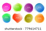 abstract blur shapes color... | Shutterstock .eps vector #779614711