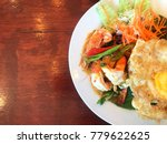 thai food on wood table.   Shutterstock . vector #779622625
